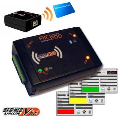 RIC 200 Terminale controller RFID, 2 relays pilotabile tramite USB, perfetto per palestre, centri benessere, club